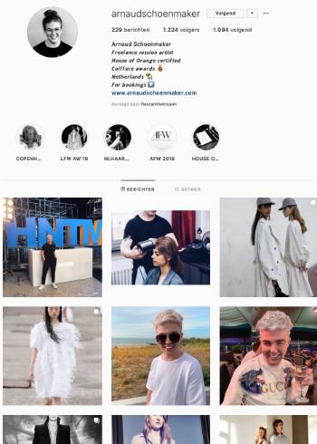 3 favoriete Insta-accounts van: Arnaud Schoenmaker